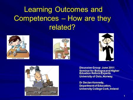 Learning Outcomes and Competences – How are they related?