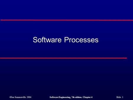 Software Processes.