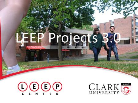 LEEP Projects 3.0. What are LEEP Projects? 2 Summer experiences Offer real-world application of course material Allow authentic problem-solving experiences.