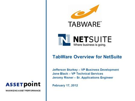 TabWare Overview for NetSuite