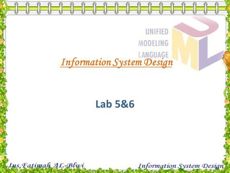 Information System Design Lab 5&6. User Interface Design.