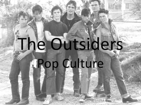 The Outsiders Pop Culture. popular weapon among gangs due to their ability to flip open on short notice, unlike a conventional pocketknife. opens by.