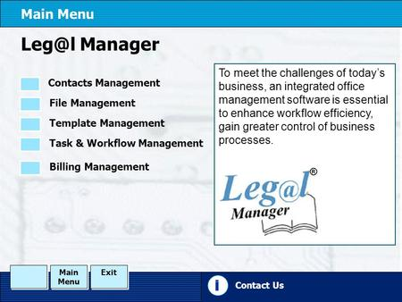 Manager To meet the challenges of today's business, an integrated office management software is essential to enhance workflow efficiency, gain greater.