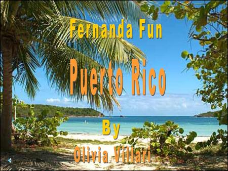 I'm Fernanda fun and I am here to show you the fun exciting things you can do while staying at Puerto Rico!
