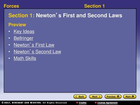 Section 3Forces Section 3 Newton S Third Law Preview Key