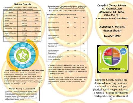 Leon County School District Nutrition Services Department
