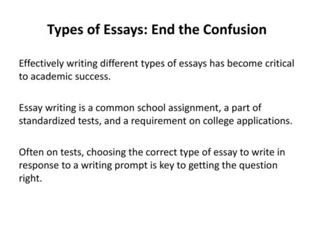 Essay Writing Elements of the Essay  - ppt download