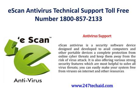 eScan Antivirus Technical Support Toll Free Number