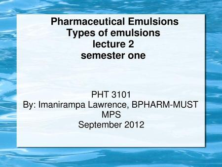 EMULSIONS  - ppt download