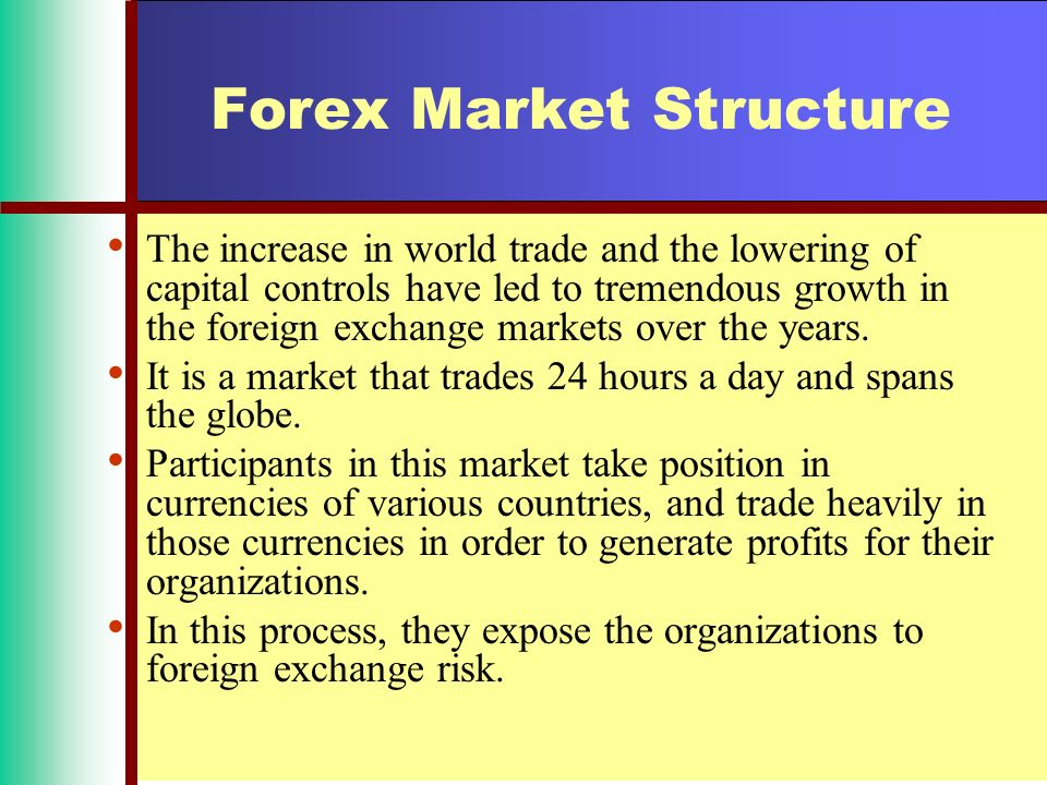 structure of forex market ppt