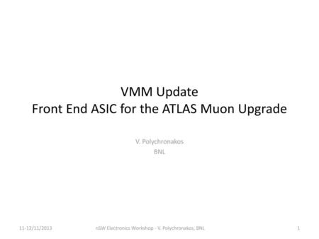 Front-End ASIC for the ATLAS New Small Wheels - ppt video