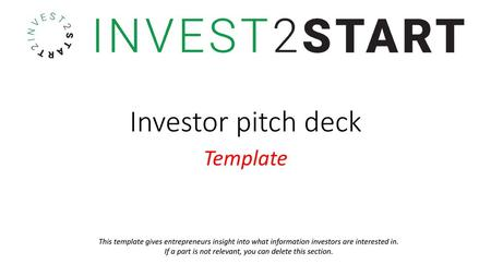 Pitch Deck Template  - ppt video online download
