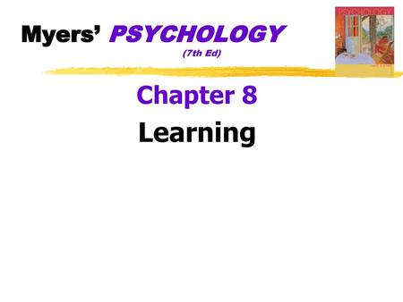Learning Chapter 8 AP Psychology  - ppt download