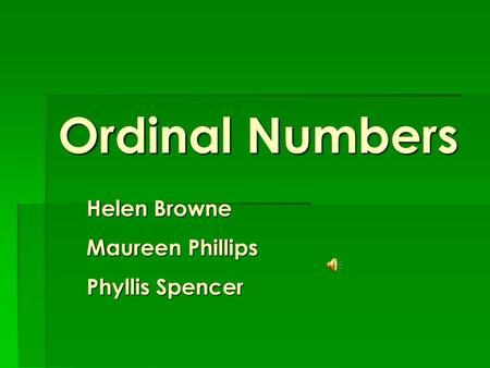 Cardinal Numbers & Ordinal Numbers  Cardinal Numbers (1 – 1000