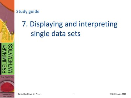 DS2 – Displaying and Interpreting Single Data Sets - ppt