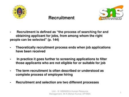RECRUITING EMPLOYEES Chapter 3 Prepared by : Ly Sokcheu