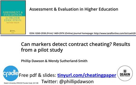 Contract cheating: An Australian research perspective - ppt