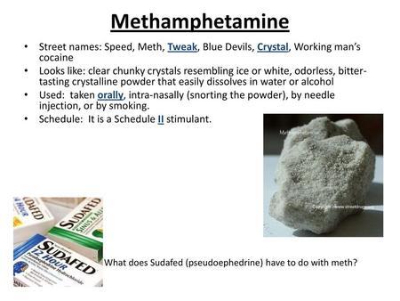 Methamphetamine  - ppt download