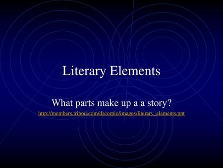 What parts make up a a story?