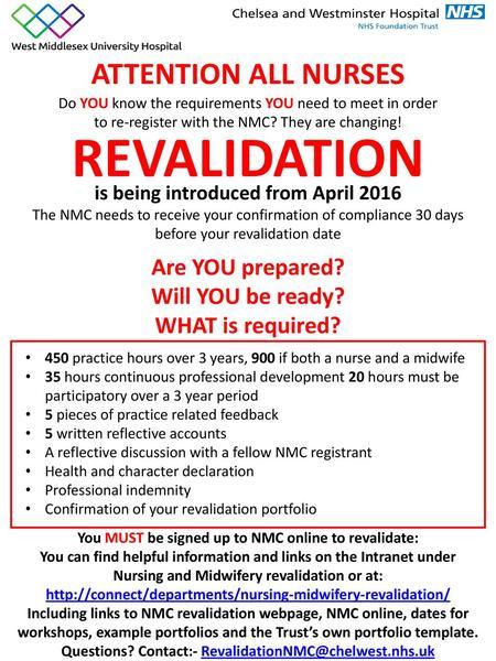 Nurse Revalidation  - ppt video online download