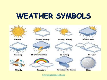 WEATHER CHARTS  WEATHER CHARTS T L O Enabling Learning