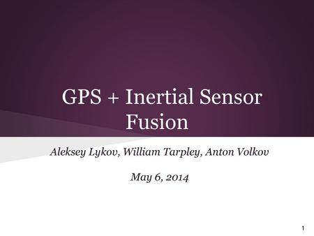 Using inertial navigation systems (INS) to navigate - ppt