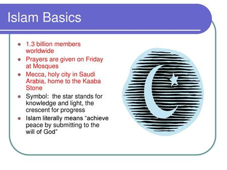 Homework: Title Page for Unit 'ISLAM' include Key words, the symbol