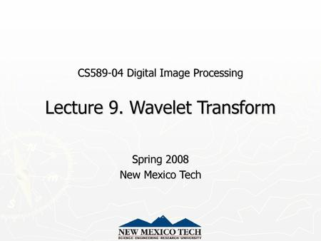 Wavelets and Multiresolution Processing - ppt video online download