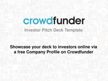 entrepreneur PITCH DECK TEMPLATE - ppt video online download