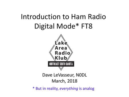 """FT8 """"Taking Amateur Radio By Storm!"""" - ppt download"""