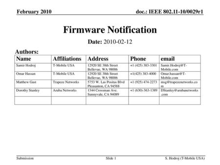 Firmware Notification - ppt download
