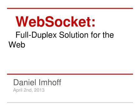 WebSockets [intro]  - ppt download