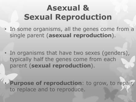 Comparing Reproduction Styles - ppt download