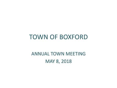 town of bourne fiscal year 2019 budget recommendation ppt downloadannual town meeting may 8, 2018