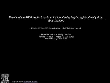 2008, 2009 American Board of Internal Medicine All rights