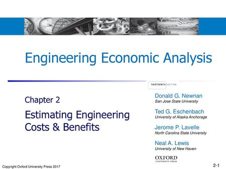 Chapter 2 Engineering Costs and Cost Estimating - ppt download