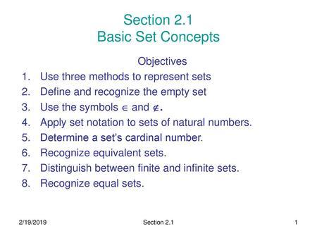 Section 2 1 Basic Set Concepts - ppt download