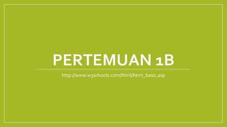 Project Pertemuan 13 Matakuliah: L0182 / Web & Animation