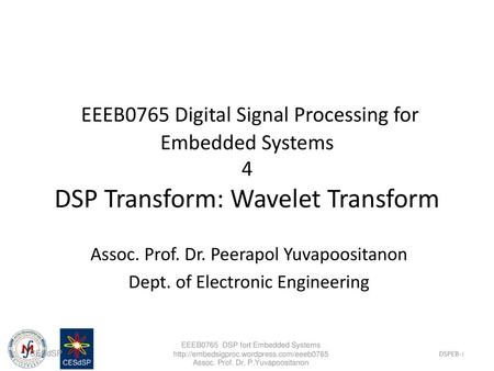 Fourier / Wavelet Analysis - ppt video online download