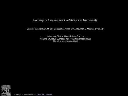 Food Animal Urology M  S  Gill, D V M , M S   - ppt video online