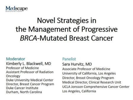State of the Art in BRCA-Mutated Ovarian Cancer - ppt download