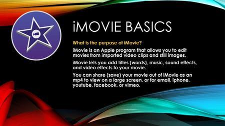 How to Use iMovie with Mac  Create a Storyline Use a