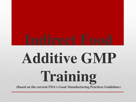 Operator Specific GMP Training - ppt download