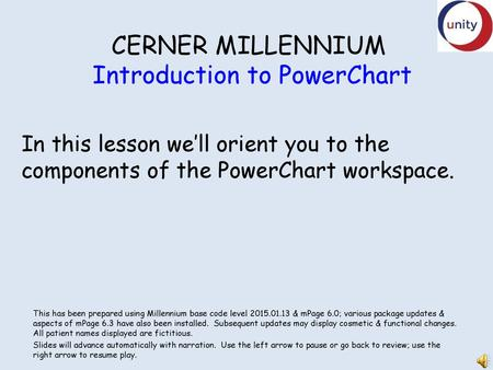 CERNER MILLENNIUM Introduction To PowerChart Ppt Download
