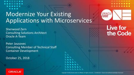 Sherwood Zern Consulting Solutions Architect Oracle A-Team - ppt