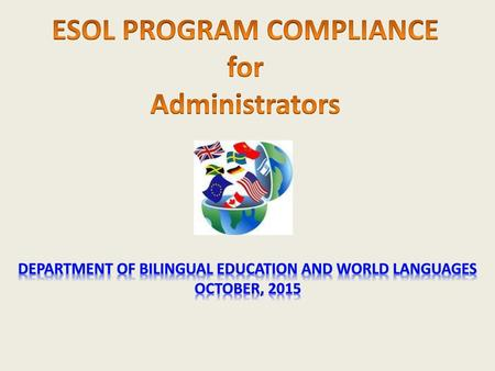 ESOL Program Implementation for Principals/Assistant Principals