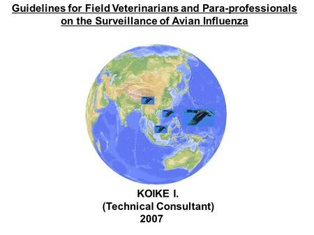 Guidelines for Field Veterinarians and Para-professionals on the Surveillance of Avian Influenza KOIKE I. (Technical Consultant) 2007.