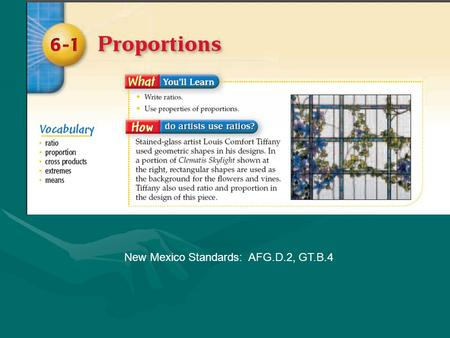 New Mexico Standards: AFG.D.2, GT.B.4