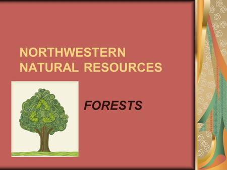 NORTHWESTERN NATURAL RESOURCES FORESTS. Forestry FACTS Most timber harvested goes toward lumber production (53%) and pulp products such as paper(32%).